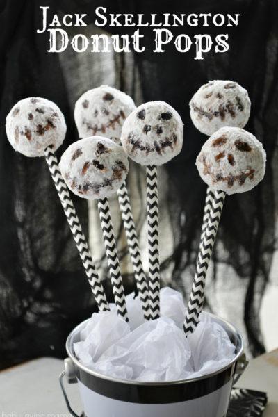 Jack Skellington Donut Pops: Easy No-Bake Halloween Treat