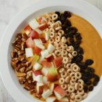 Pumpkin Apple Smoothie Bowl with Gluten Free Cheerios