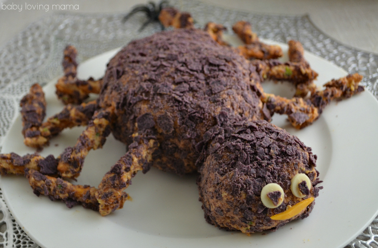 Spider Cheese Ball for Halloween