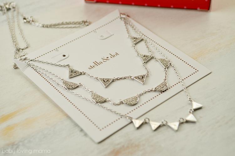 Stella Dot Pave Chevron Silver Necklace