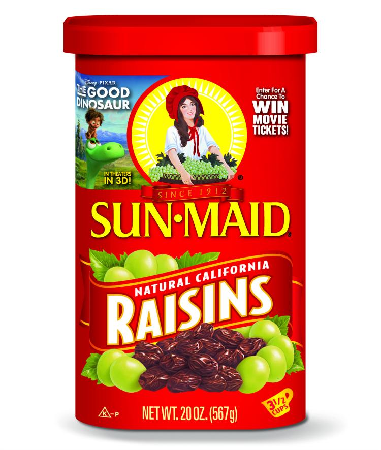 Sun Maid Raisins The Good Dinosaur