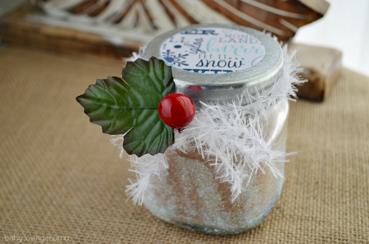 Cocoa Holiday Gift Jar Craft