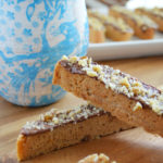 Chocolate Dipped Orange Walnut Biscotti