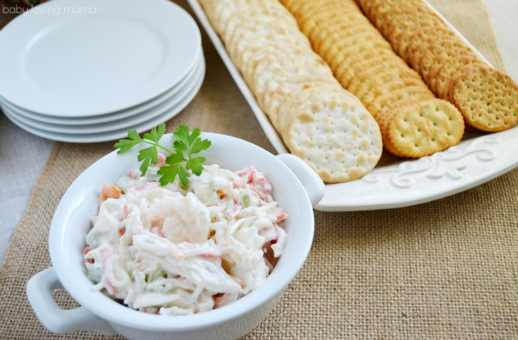 Sams Club Seafood Salad Appetizer with Crackers