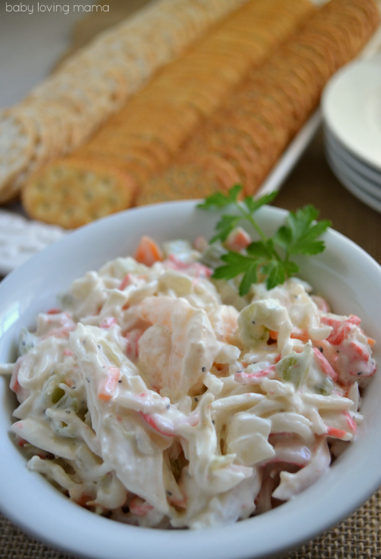 Sams Club Shrimp and Seafood Salad with Crackers