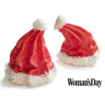 Santa Hat Meringues Holiday Treat