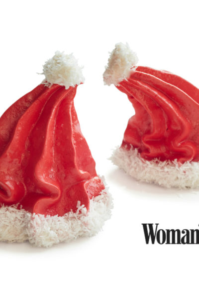 Santa Hat Meringues for Holiday Treats