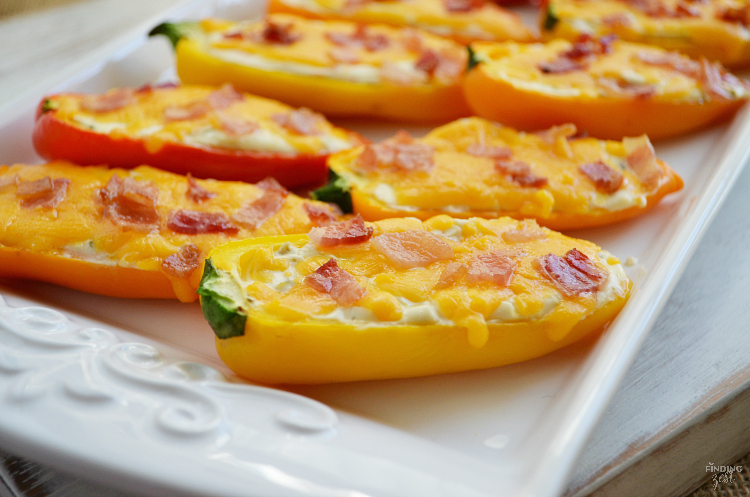 Try these sweet pepper poppers, a delicious low carb appetizer. Make them for your next holiday gathering, celebration or as a game day snack! You don't have to be on a low carb diet to fall in love with these low carb appetizers loaded with cheese and bacon!