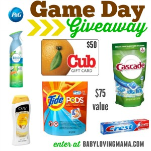 Game Day Giveaway with Proctor and Gamble