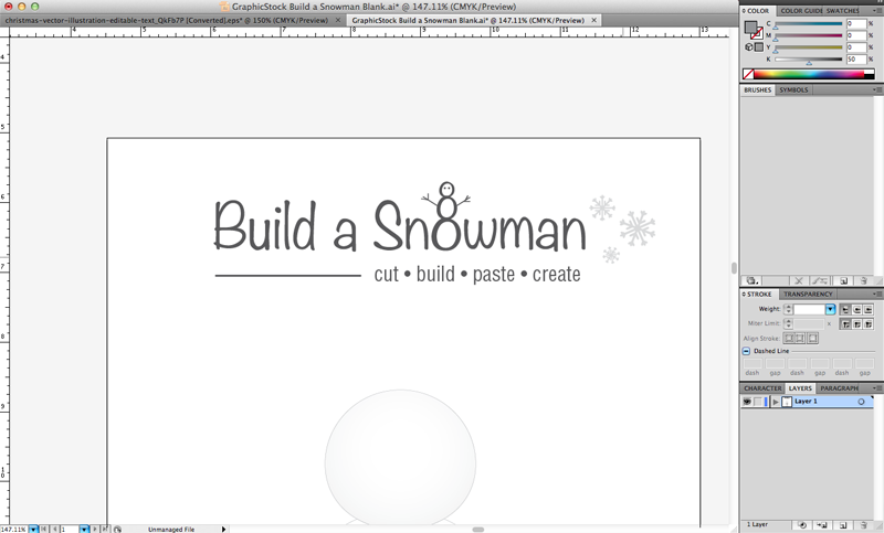 GraphicStock Snowman Blank 2