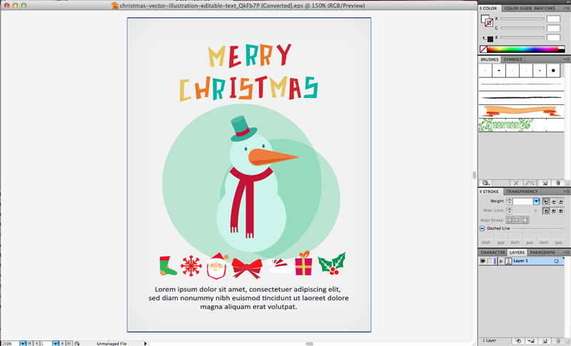 GraphicStock Snowman Cover Page 1