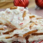 Peppermint Almond Bark Recipe with Pretzels