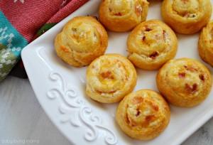 Cheesy Bacon Crescent Roll Pinwheels