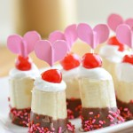 Chocolate Banana Sundae Bites for Valentine's Day