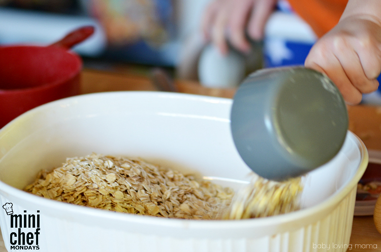 Making Baked Oatmeal with Kids