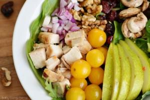 Chicken Pear Walnut Cranberry Salad