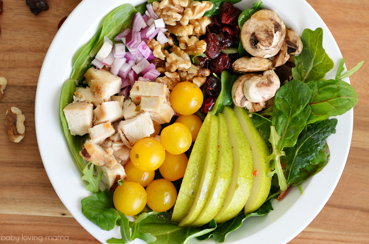 Chicken Pear Walnut Cranberry Salad Recipe