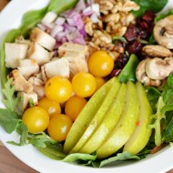 Chicken Pear Walnut Salad: Easy One Bowl Meal Idea