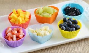 Chopped Fresh Fruit for Rainbow Food Art