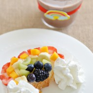 Fun Food Activities for Kids: Fruit Rainbow Angel Food Cake