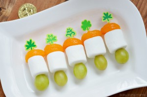 Mini Irish Flag Fruit Skewers