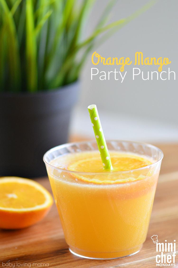 Orange Mango Party Punch Mini Chef Mondays Finding Zest