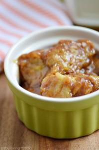 Pumpkin Bread Pudding with Brown Sugar Sauce