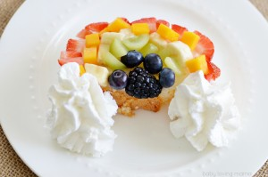 Rainbow Fruit Angel Food Cake