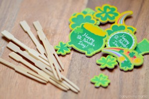 St Patricks Day Bamboo Forks