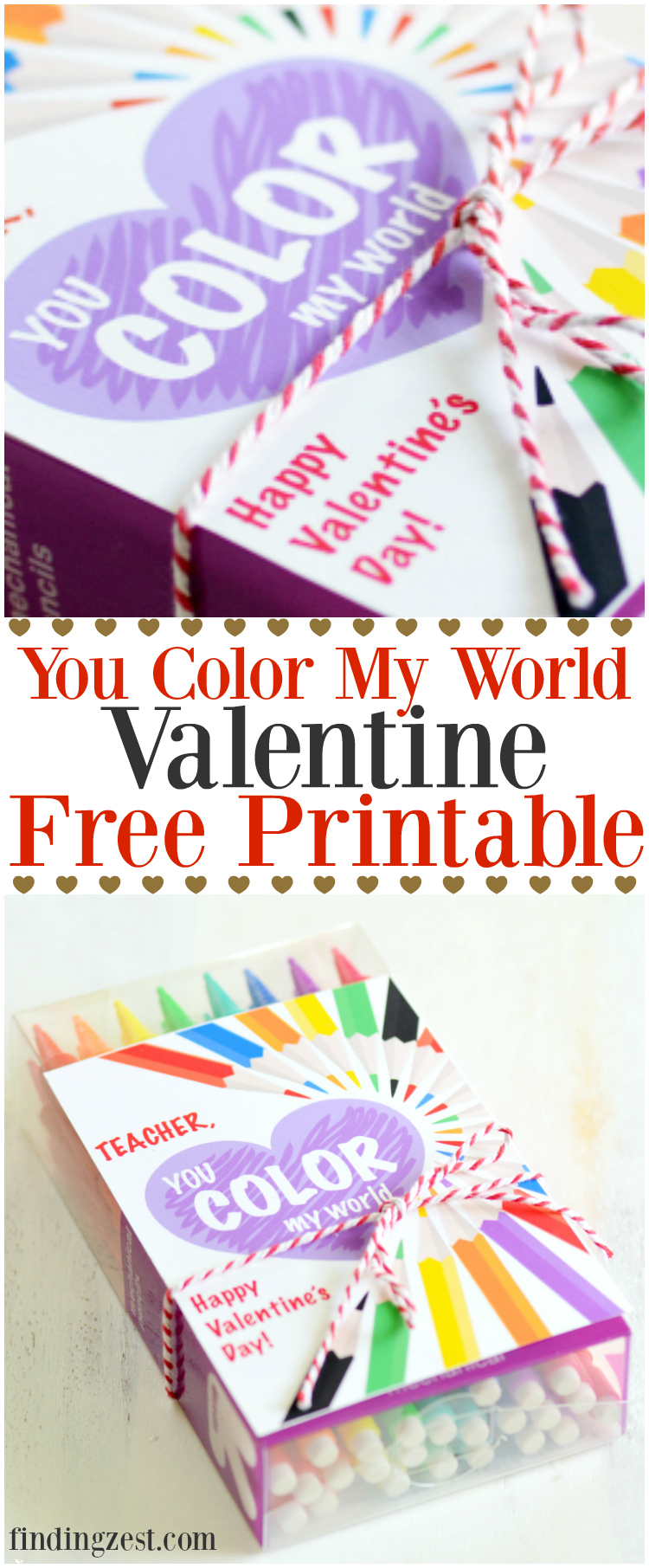 This You Color My World Valentine Free Printable Offers An Option For  Teachers Plus Valentineu0027s Day