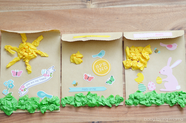 DIY Spring Paper Treat Bags Kids Craft