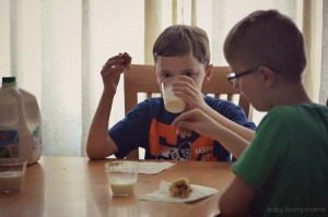 Drinking Milk with Marshmallow Popcorn