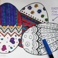 Easter Eggs Coloring Page Free Printable