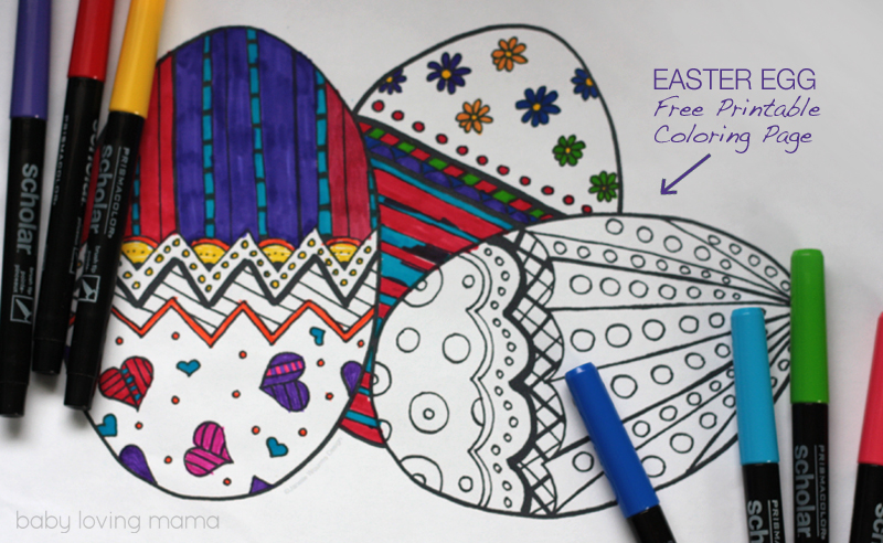 Easter Eggs Coloring Page Free Printable - Finding Zest