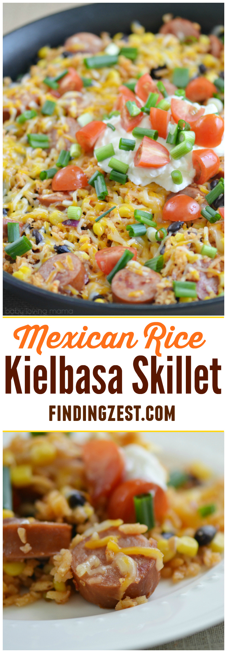 Shake things up at dinner with this easy Mexican Rice Kielbasa Skillet! This one-dish meal makes cooking and cleanup a breeze on busy weeknights.