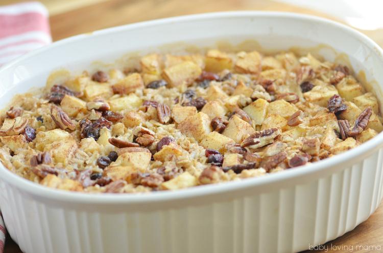 Hearty Apple Baked Oatmeal Recipe