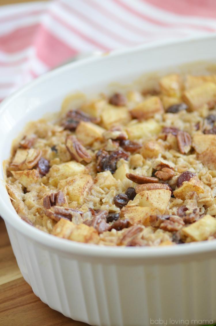 Hearty Apple Cinnamon Baked Oatmeal Recipe