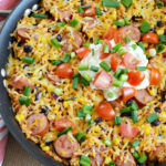 Mexican Rice Kielbasa Skillet
