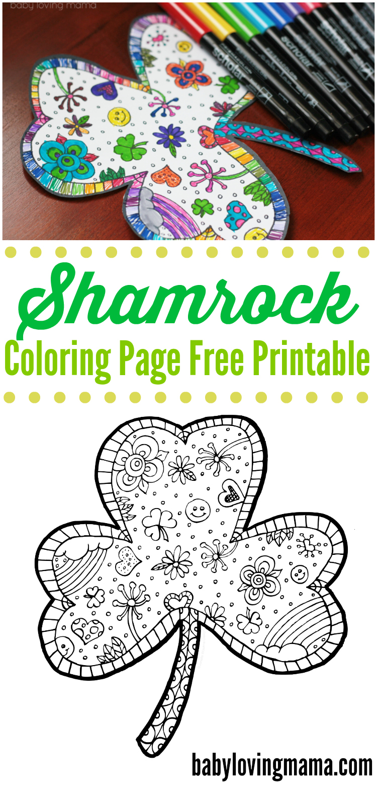 print out this fun shamrock coloring page free printable for st patricks day the