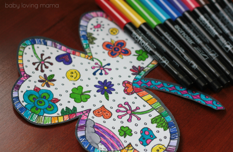 Shamrock Coloring Page Free Printable - Finding Zest