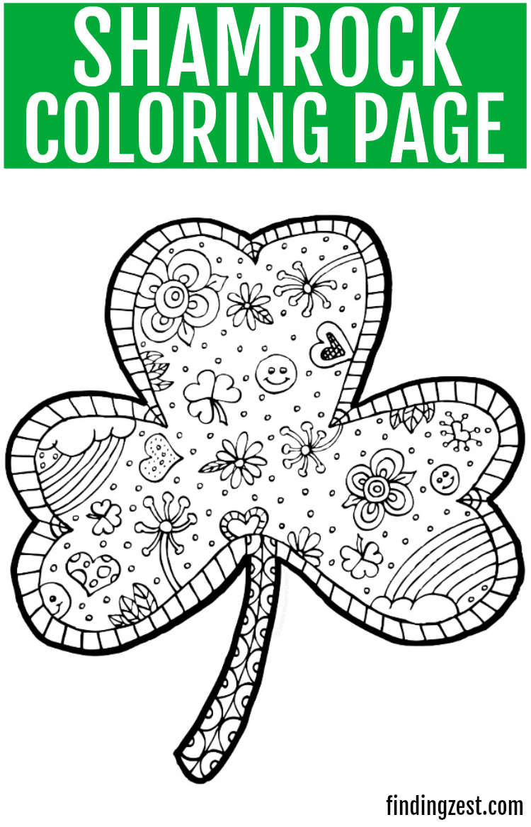 photo about Printable Shamrock Coloring Pages titled Shamrock Coloring Website page Totally free Printable - Locating Zest