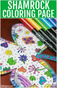Print out this fun shamrock coloring page free printable for St. Patrick's Day!The coloring craze is taking the world by storm and it's not just for kids!