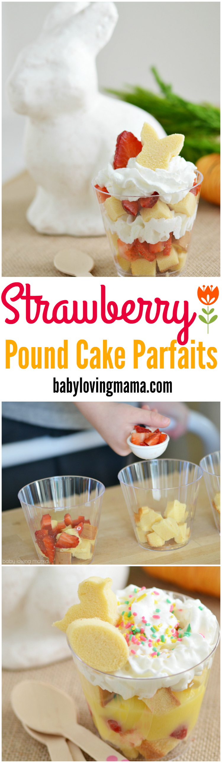 Strawberry Pound Cake Parfaits for Spring