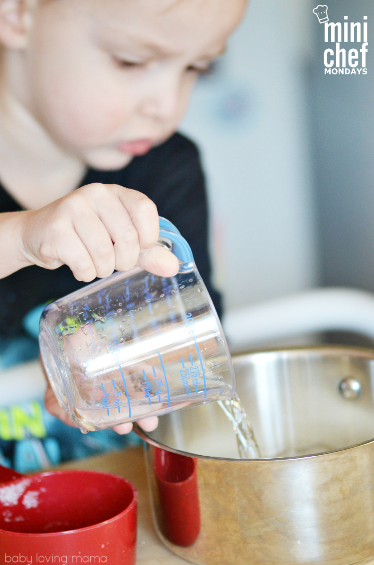 Child Making Simple Syrup
