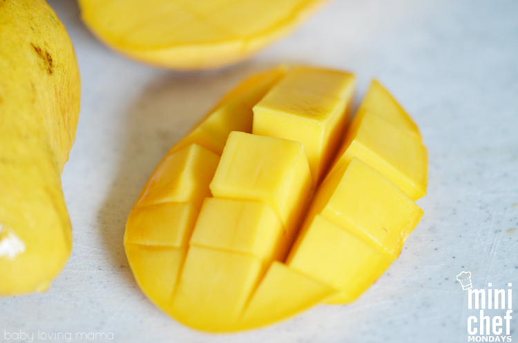 Cut Champagne Mango for Italian Ice