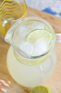 Homemade Limeade Made with Simple Syrup