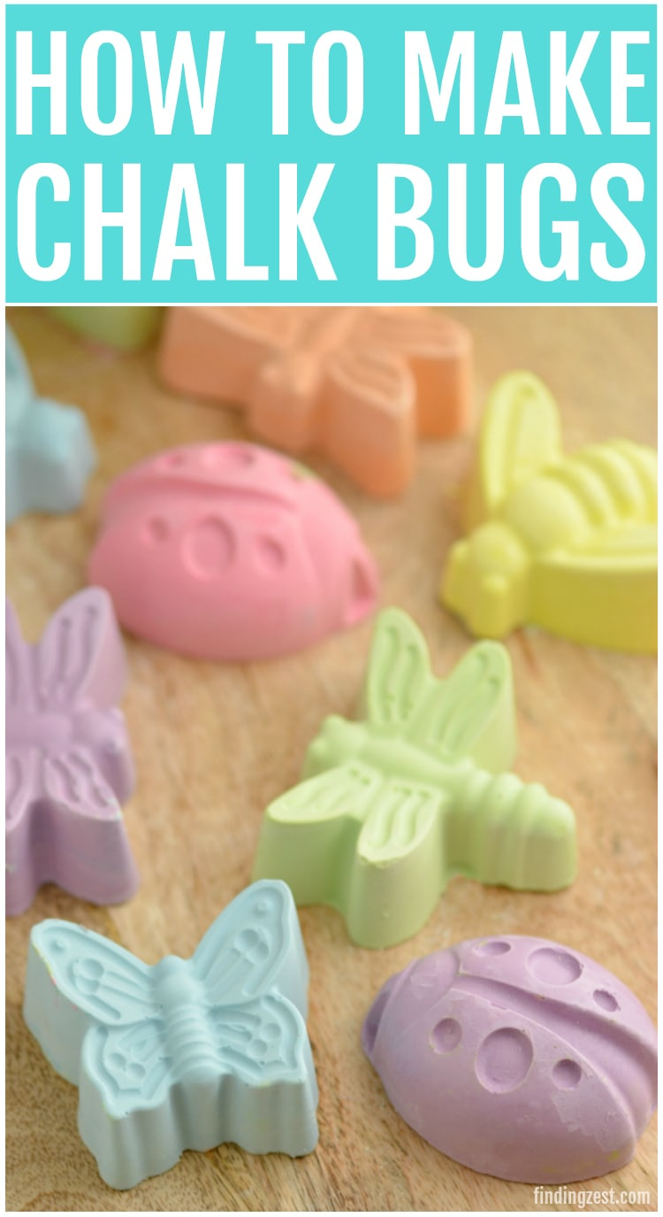 These sidewalk chalk bugs are a great summer craft. Kids will love to draw with these adorable chalk bugs. If you are throwing a bug themed birthday party, this chalk makes a great party favor!