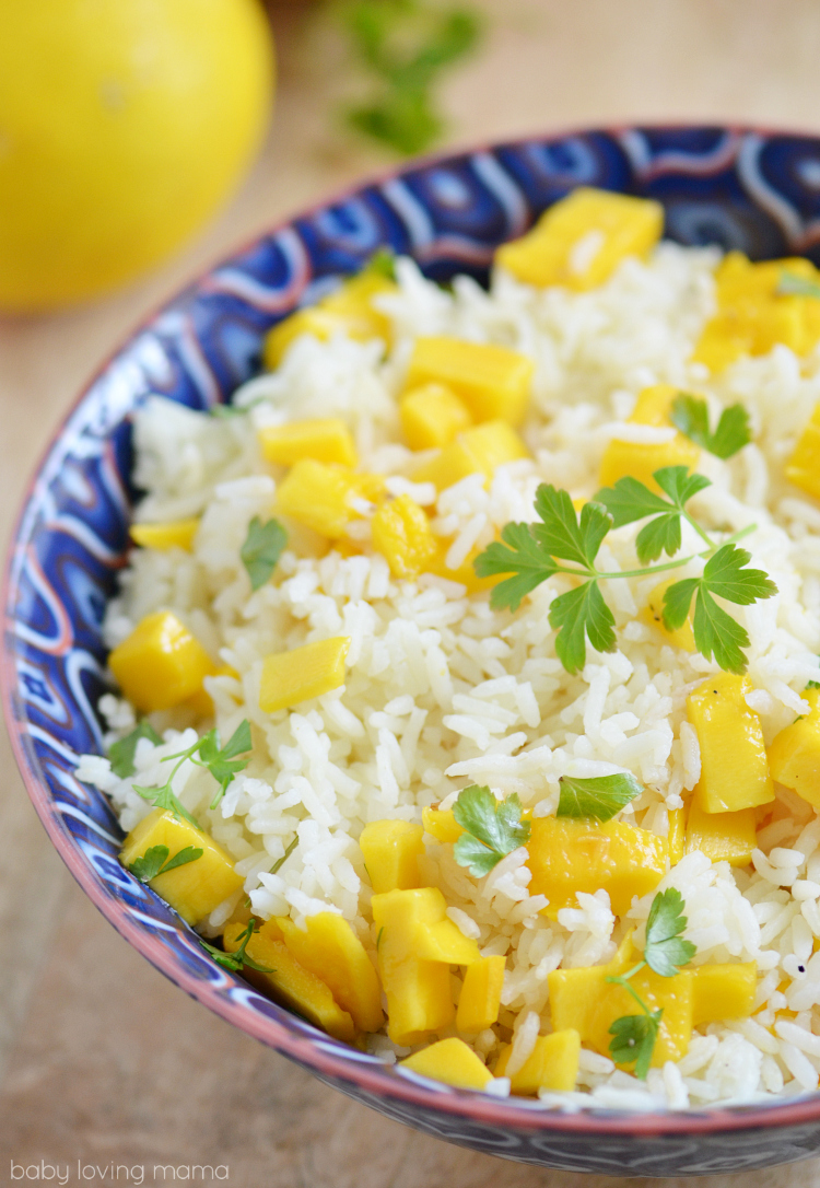 Mango Lemon Rice Recipe