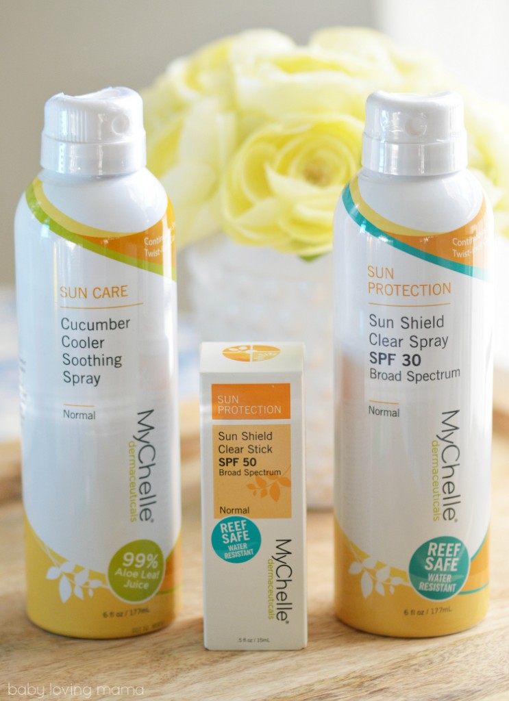 MyChelle Sun Care Products Sun Shield Soothing Spray Clear Stick