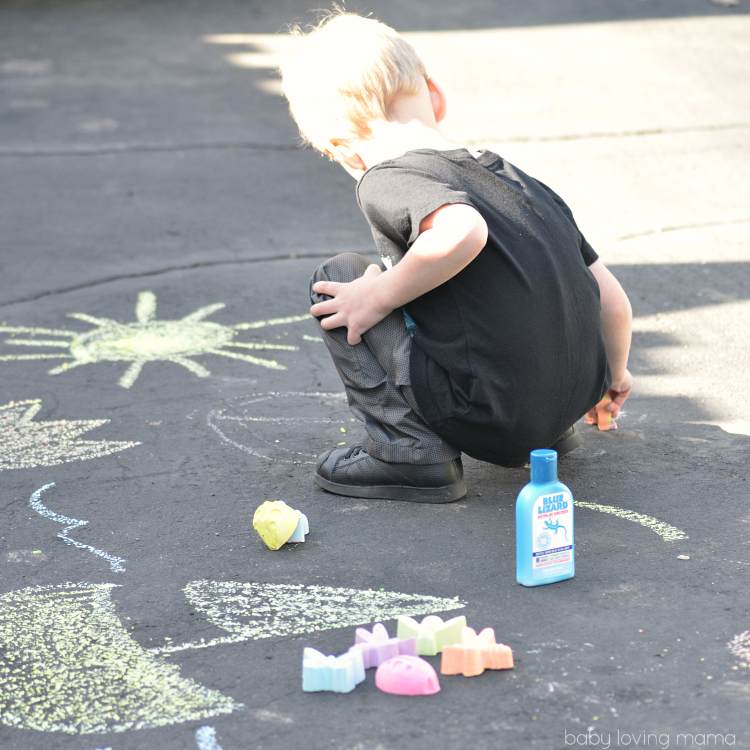 Playing with Sidewalk Chalk Bugs